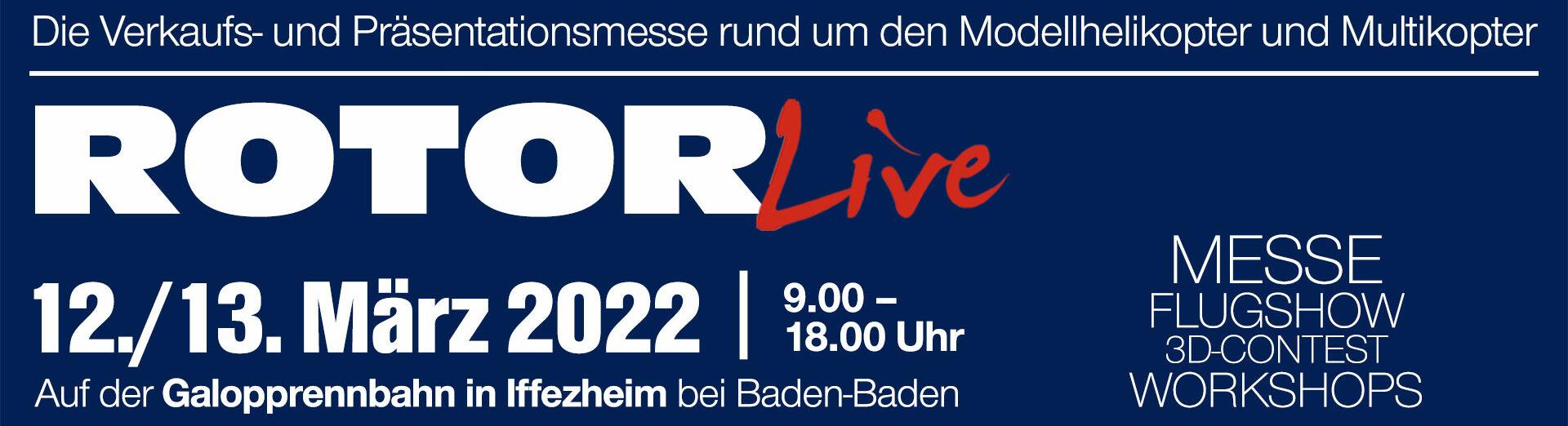 ROTOR live 2022 vom 12. bis 13. März 2022